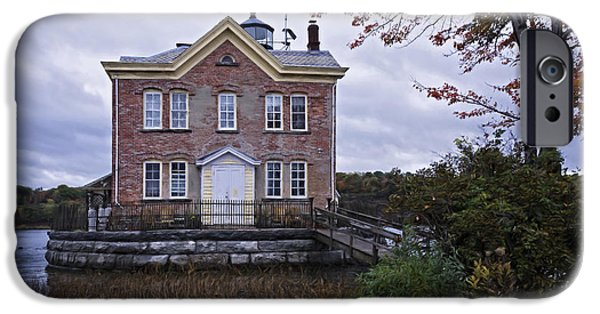Hudson River iPhone Cases - Saugerties Lighthouse iPhone Case by Joan Carroll