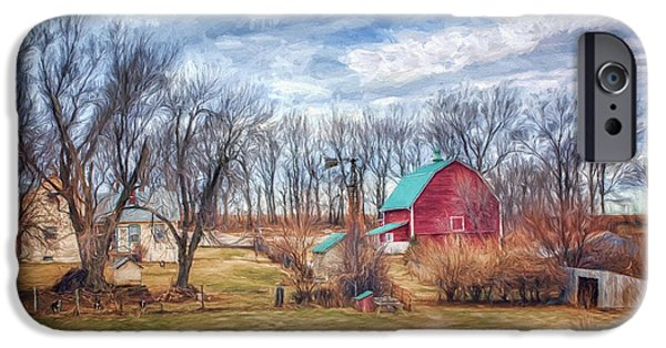 Doghouse iPhone Cases - Saunders County Farm 1 iPhone Case by Nikolyn McDonald