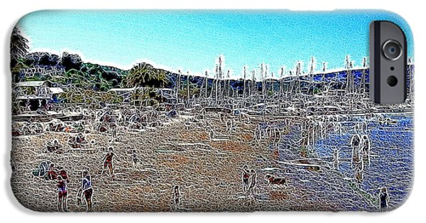 Sausalito Digital iPhone Cases - Sausalito Beach Sausalito California 5D22696 Artwork iPhone Case by Wingsdomain Art and Photography