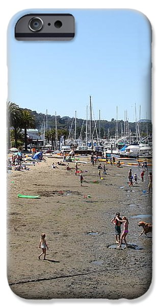 Sausalito Beach Sausalito California 5D22696 iPhone Case by Wingsdomain Art and Photography