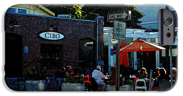 Sausalito Digital iPhone Cases - Sausalito Cafe Digital Art iPhone Case by DeAnna Denise Adams