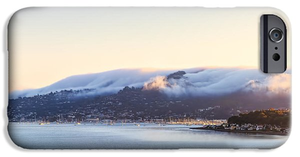 Sausalito iPhone Cases - Sausalito covered in fog iPhone Case by Henry Inhofer