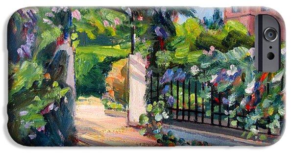 Sausalito iPhone Cases - Sausalito Garden iPhone Case by Robert Gerdes