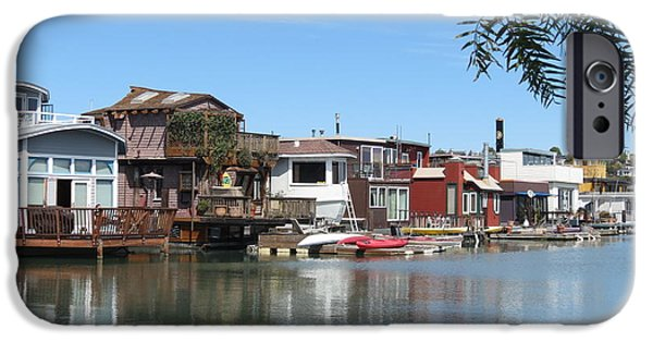 Sausalito iPhone Cases - Sausalito Houseboat Row iPhone Case by Spyglass Galleries -  Captain Layne
