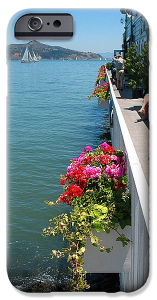 Sausalito iPhone Cases - Sausalito Leisure iPhone Case by Connie Fox