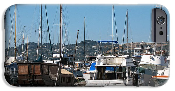 Sausalito iPhone Cases - Chinese Junk in Sausalito  iPhone Case by Connie Fox