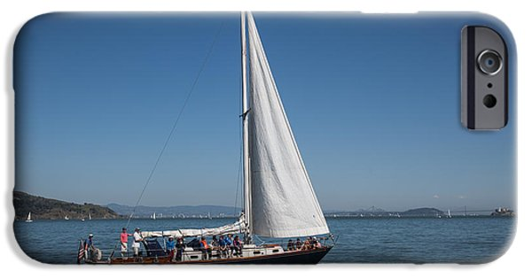 Sausalito iPhone Cases - Sausalito sail iPhone Case by Henry Inhofer