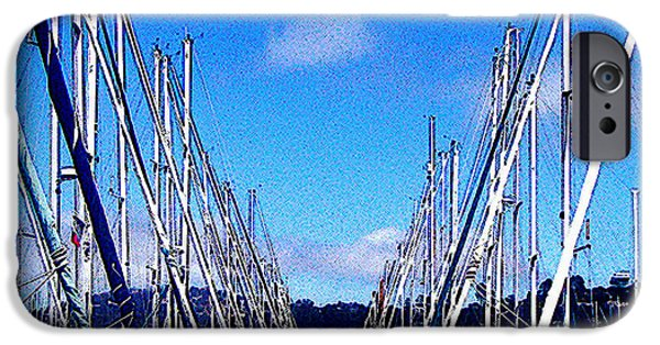 Sausalito iPhone Cases - Sausalito Sailboats iPhone Case by Jerome Stumphauzer