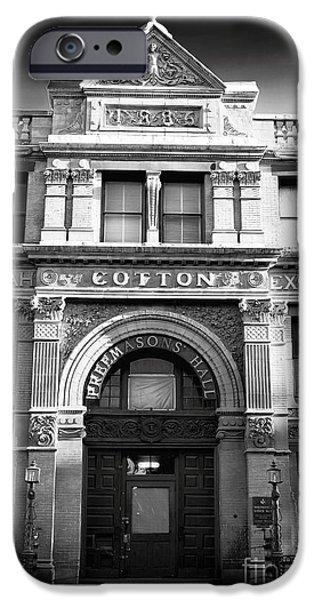 Savannah Cotton Exchange iPhone Case by John Rizzuto