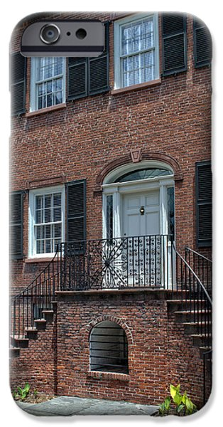 District Columbia Photographs iPhone Cases - Savannahs Davenport House iPhone Case by Greg and Chrystal Mimbs