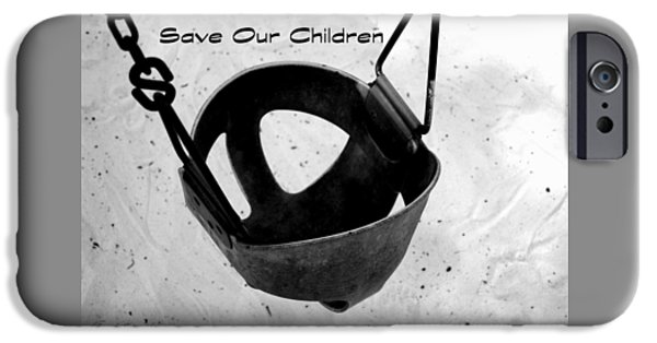 Missing Child iPhone Cases - Save Our Children iPhone Case by Debra Forand