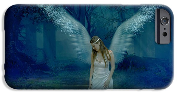 Seraphim Angel iPhone Cases - Saved By An angel iPhone Case by Ester  Rogers