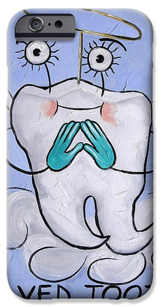 Save iPhone Cases - Saved Tooth iPhone Case by Anthony Falbo