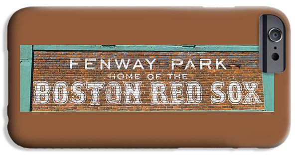 Red Sox iPhone Cases - Sawks Home iPhone Case by Barbara McDevitt