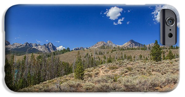 Haybale iPhone Cases - Sawtooth View iPhone Case by Robert Bales