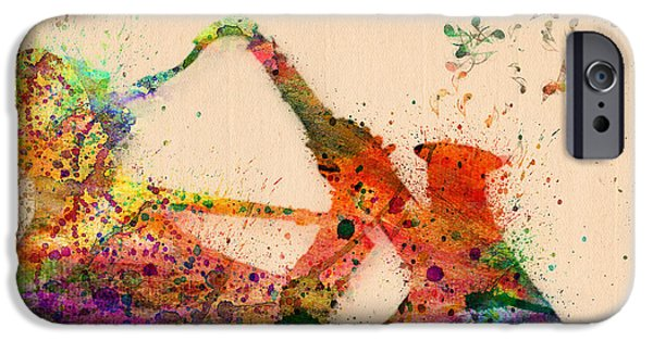 Animation iPhone Cases - Saxophone  iPhone Case by Mark Ashkenazi