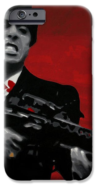 Say Hello To My Little Friend  iPhone Case by Luis Ludzska