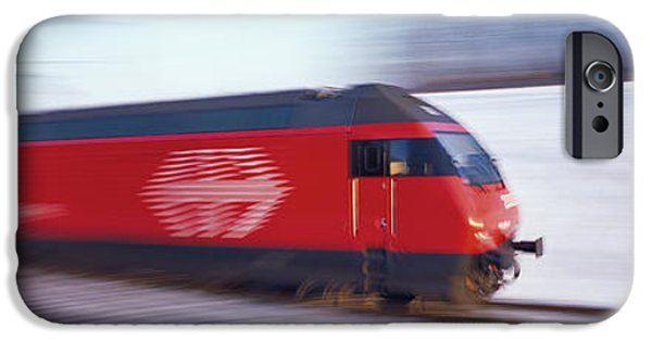 High Speed Photography iPhone Cases - Sbb Train Switzerland iPhone Case by Panoramic Images