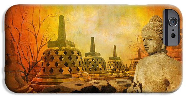 Museum iPhone Cases - Sborobudur Temple Compounds iPhone Case by Catf