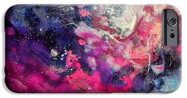 Flashy Paintings iPhone Cases - Samantha Carol Too iPhone Case by Kathleen Fowler