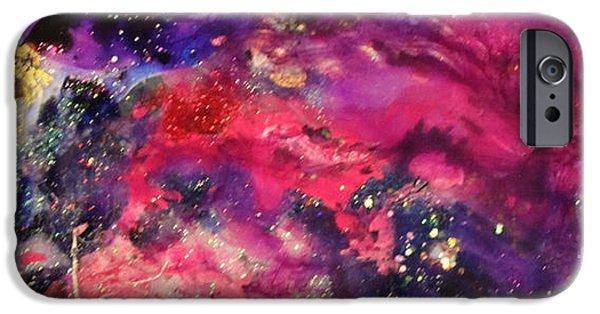 Splashy Paintings iPhone Cases - Sc1004 iPhone Case by Kathleen Fowler