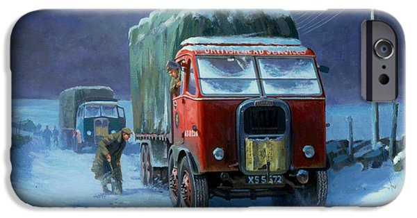Wintertime iPhone Cases - Scammell R8 iPhone Case by Mike  Jeffries