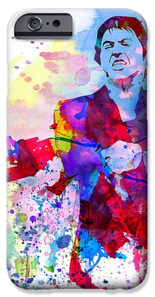 Film Paintings iPhone Cases - Scar Watercolor iPhone Case by Naxart Studio