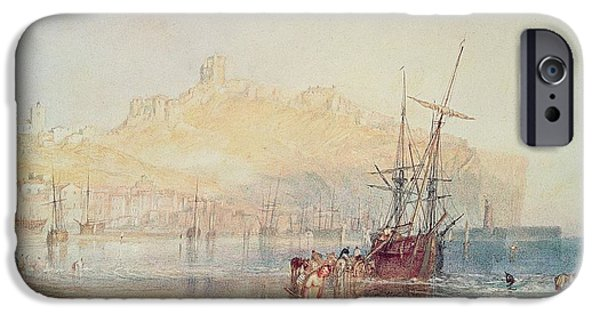 Sea iPhone Cases - Scarborough, 1825 Watercolour iPhone Case by Joseph Mallord William Turner