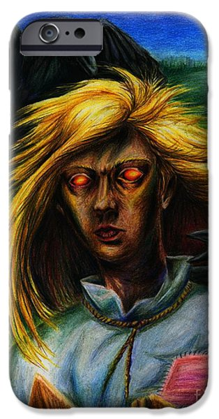 Shed Drawings iPhone Cases - Scarecrow iPhone Case by Alisa Bogodarova