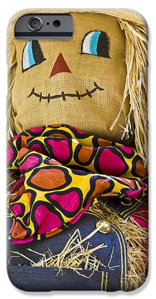 Hightower iPhone Cases - Scarecrow iPhone Case by Tim Hightower