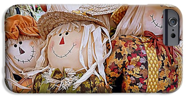 Farmstand iPhone Cases - Scarecrows iPhone Case by Janice Drew