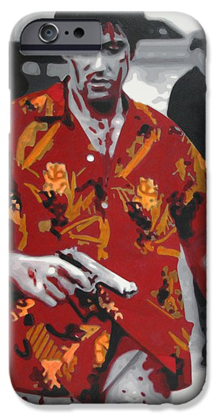 Epic iPhone Cases - Scarface 2013 iPhone Case by Luis Ludzska