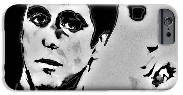 Drug Cartel iPhone Cases - Scarface 4x iPhone Case by Brian Reaves