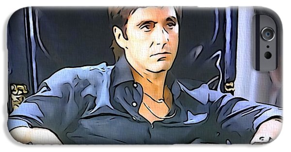 Oliver Stone iPhone Cases - Scarface iPhone Case by Dan Sproul