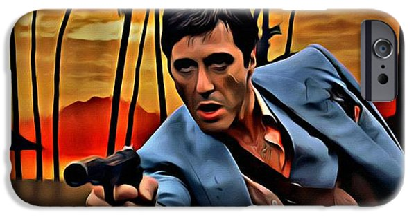Al Pacino Photographs iPhone Cases - Scarface iPhone Case by Florian Rodarte