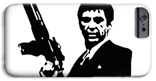 Al Pacino Photographs iPhone Cases - Scarface iPhone Case by Guido Prussia