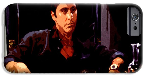 Drug Cartel iPhone Cases - Scarface II iPhone Case by Brian Reaves