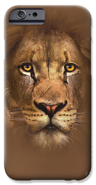 Scarface Digital Art iPhone Cases - Scarface Lion iPhone Case by Robert Foster