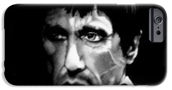 Al Pacino Drawings iPhone Cases - Scarface iPhone Case by Mark Shynk