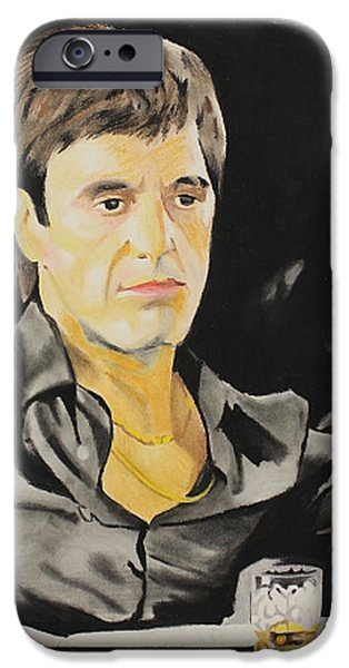 Al Pacino Pastels iPhone Cases - Scarface iPhone Case by Marvin Ryan
