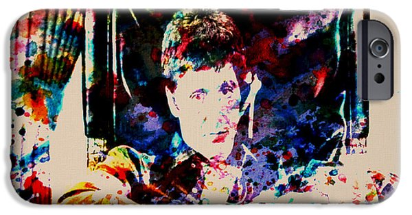 Steven Bauer iPhone Cases - Scarface Paint Drops iPhone Case by Brian Reaves
