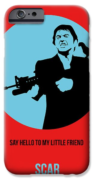 See iPhone Cases - Scarface Poster 1 iPhone Case by Naxart Studio