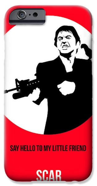 Tony Montana iPhone Cases - Scarface Poster 2 iPhone Case by Naxart Studio