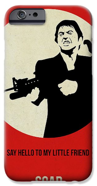 Tony Montana iPhone Cases - Scarface Poster iPhone Case by Naxart Studio