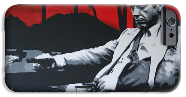 Al Pacino iPhone Cases - Scarface - Sunset 2013 iPhone Case by Luis Ludzska
