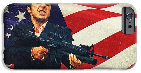 Oliver Stone iPhone Cases - Scarface iPhone Case by Taylan Soyturk