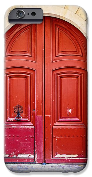 Door iPhone Cases - Scarlet iPhone Case by Melanie Alexandra Price