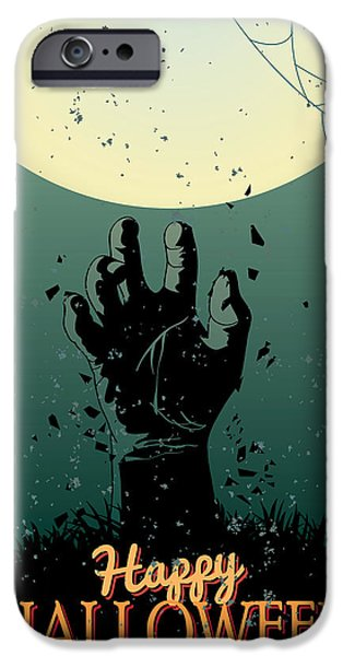 Halloween Digital iPhone Cases - Scary Halloween iPhone Case by Gianfranco Weiss