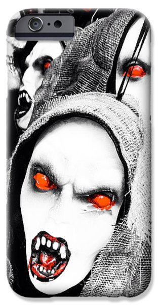 Goul iPhone Cases - Scary Red iPhone Case by Loretta Cassiano