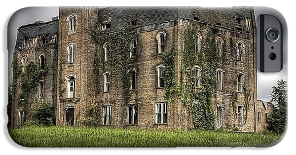 Haunted Schools iPhone Cases - Scary School House iPhone Case by Danny Pickens